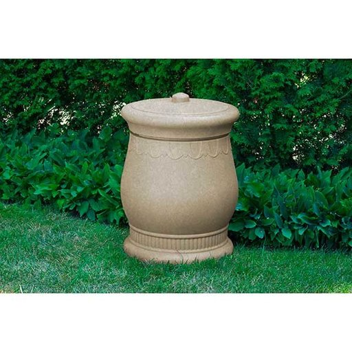 View a Larger Image of Good Ideas Savannah Urn Storage and Waste Bin, 30 Gallon, Sandstone