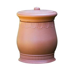Good Ideas Savannah Urn Storage and Waste Bin, 30 Gallon, Terra Cotta