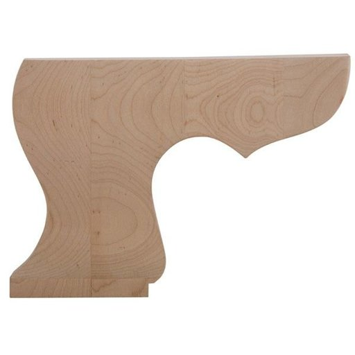 View a Larger Image of Left Pedestal Bun Foot - Maple, Model BFPED-L-M