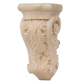 Medium Acanthus Leaf Corbel - Cherry, Model CB402-C
