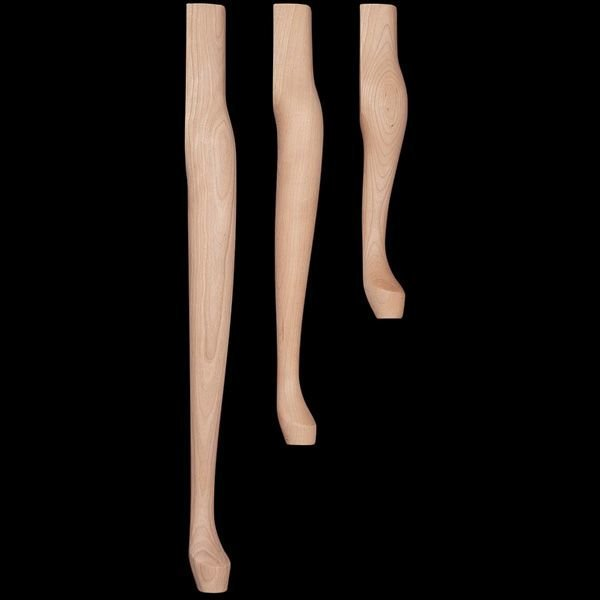View A Larger Image Of Table Legs, Model QA29 C, Queen Anne 29