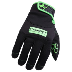 Grasper Gloves, Black/Green, Medium