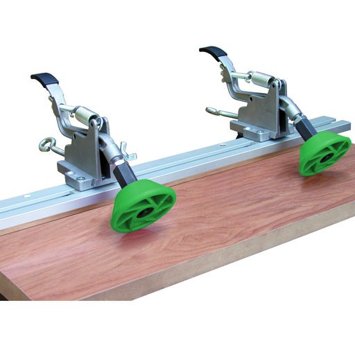 View a Larger Image of Green Bi-Directional Hold-Down Safety Rollers