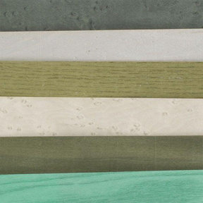 "4-1/2"" to 6-1/2"" Width 3 sq ft Assortment Pack Green Dyed Wood Veneer"