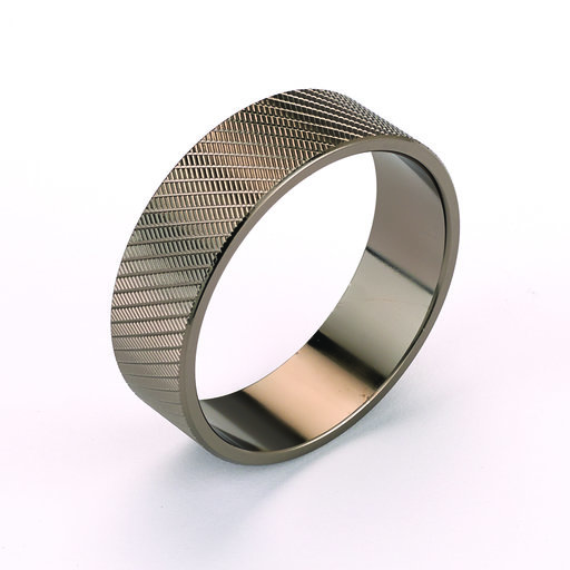 View a Larger Image of Gun Metal Duck Call Accent Band Knurled