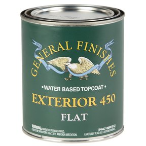 Flat Exterior 450 Varnish Water Based Quart