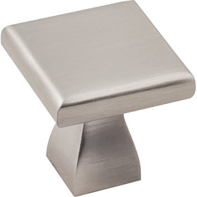 "Hadly Knob 1"" O.L.,  Satin Nickel"