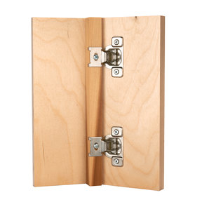 "110 Degree 5/8"" Overlay Hinge, 2-piece"