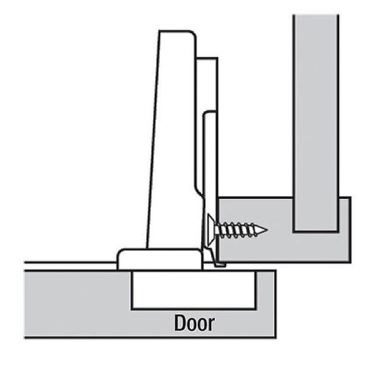 """View a Larger Image of 110° Face Frame 1/2"""" Overlay Hinge Pair"""