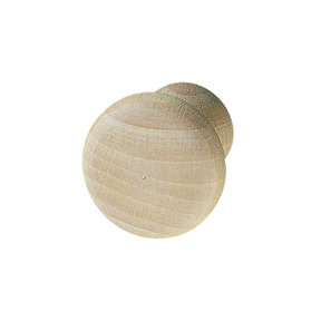 Beech Wood Knob Unfinished 44mm