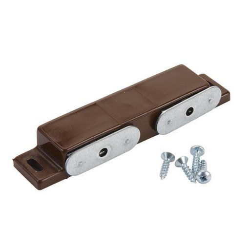 View a Larger Image of Double Magnetic Catch, Brown