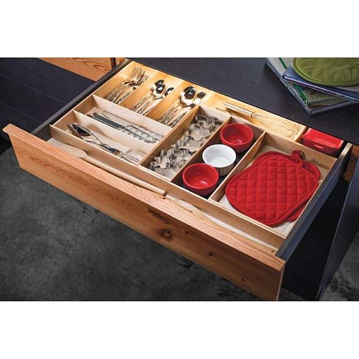 "View a Larger Image of Fineline Kitchen Storage Box 2 – Birch – 8-5/16"" x 8-5/16"" x 4-3/4"""