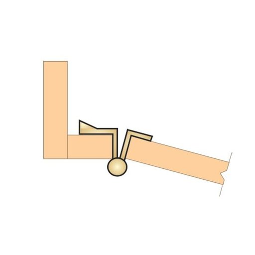 View a Larger Image of Non-Mortise Full Wrap Hinge with Ball Finial in Brass Plated Finish