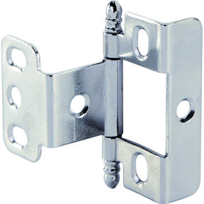 Full Wrap Non-Mortised Decorative Hinge with Ball Finial in Chrome Plated Finish - Model# 351.86.220