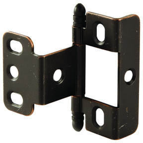 Full Wrap Non-Mortised Decorative Hinge with Ball Finial in Copper Bronze Finish - Model# 351.86.185