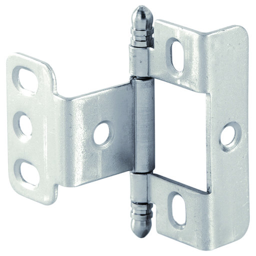 View a Larger Image of Full Wrap Non-Mortised Decorative Hinge with Ball Finial in Matte Nickel Finish - Model# 351.86.620