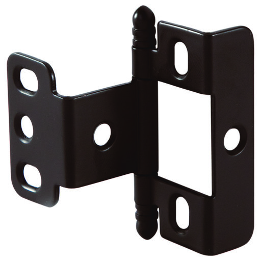 View a Larger Image of Non-Mortise Full Wrap Hinge with Ball Finial in Oil Rubbed Bronze Finish