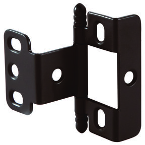 Non-Mortise Full Wrap Hinge with Ball Finial in Oil Rubbed Bronze Finish