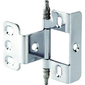 Full Wrap Non-Mortised Decorative Hinge with Minaret Finial in Chrome Plated Finish - Model# 351.86.200