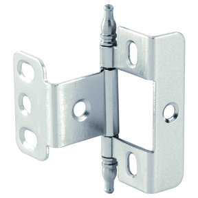 Full Wrap Non-Mortised Decorative Hinge with Minaret Finial in Matte Nickel Finish - Model# 351.86.600