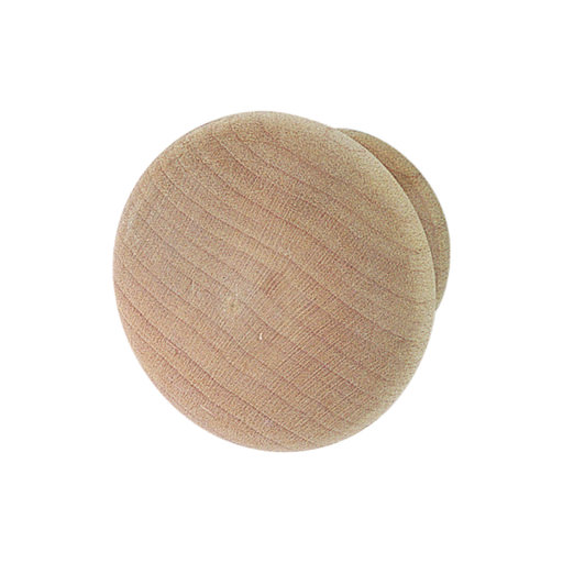 View a Larger Image of Maple Wood Knob Unfinished 39mm