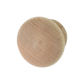 Maple Wood Knob Unfinished 39mm