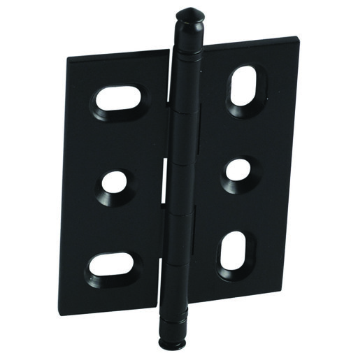 View a Larger Image of Mortise Solid Brass Butt Hinge with Finial in Black Matt