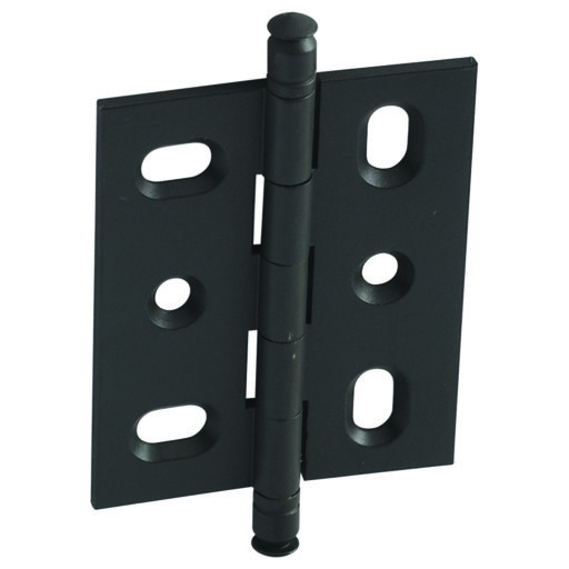 View a Larger Image of Mortised Decorative Solid Brass Butt Hinge with Finial in Dark Oil-Rubbed Bronze - Model# 354.22.141