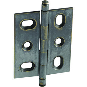 Mortised Decorative Solid Brass Butt Hinge with Finial in Pewter - Model# 354.22.931