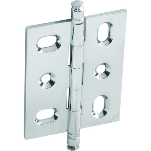 View a Larger Image of Mortised Decorative Solid Brass Butt Hinge with Finial in Polished Chrome - Model# 354.22.231
