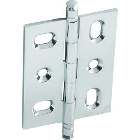 Mortised Decorative Solid Brass Butt Hinge with Finial in Polished Chrome - Model# 354.22.231