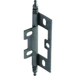 Non-Mortised Decorative Butt Hinge with Finial in Pewter - Model# 351.95.670