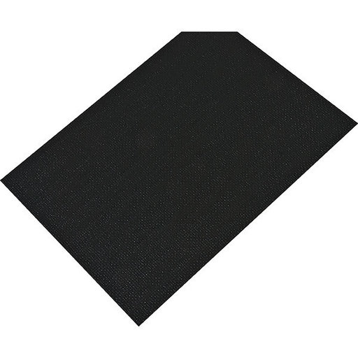 "View a Larger Image of Non-Slip Mat, Fiber Pattern, Black, 23-5/8"" x 46-1/16"""