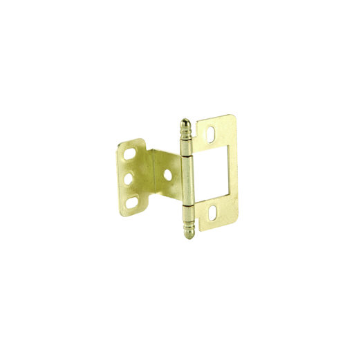 View a Larger Image of Partial Wrap Non-Mortised Decorative Hinge with Ball Finial in Brass Plated Finish - Model# 351.86.830