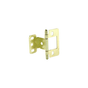 Partial Wrap Non-Mortised Decorative Hinge with Ball Finial in Brass Plated Finish - Model# 351.86.830