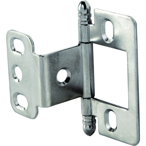 View a Larger Image of Partial Wrap Non-Mortised Decorative Hinge with Ball Finial in Chrome Plated Finish - Model# 351.86.230