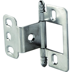 Partial Wrap Non-Mortised Decorative Hinge with Ball Finial in Chrome Plated Finish - Model# 351.86.230