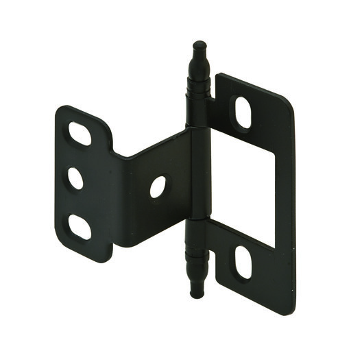 View a Larger Image of Partial Wrap Non-Mortised Decorative Hinge with Minaret Finial in Black Finish - Model# 351.86.310