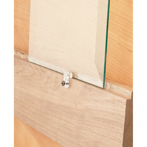 """View a Larger Image of Glass Retainers Clear Plastic 3/16"""" Offset 10 pk"""