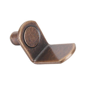 "Shelf Support Pin, Bracket Style, Bronze, 1/4"", 25 pack"