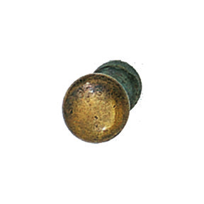 Solid Brass Antique Brass Knob with Wood Screw 9x9x9mm