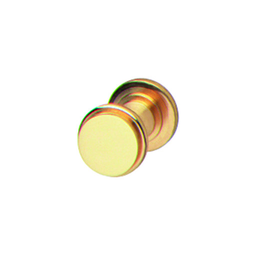 View a Larger Image of Solid Brass Polished Brass Knob with Wood Screw 14x14x13mm