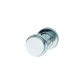 Solid Brass Polished Chrome Knob with Wood Screw 14x14x13mm