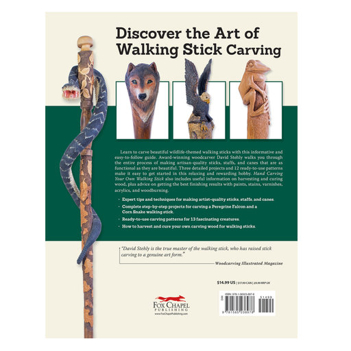 View a Larger Image of Hand Carving Your Own Walking Stick