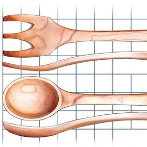 Handcrafted Wooden Utensils - Downloadable Plan