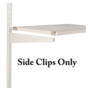 Hardware Pack: Shelf Clips for 6 Wood Shelves