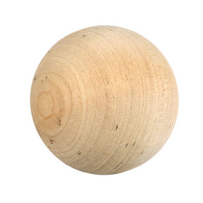 "Hardwood Ball 1-3/4"" Dia., 1-piece"