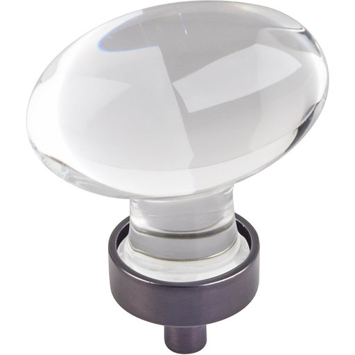"View a Larger Image of Harlow Large Football Glass Knob,1-5/8"" O.L., Brushed Oil Rubbed Bronze"
