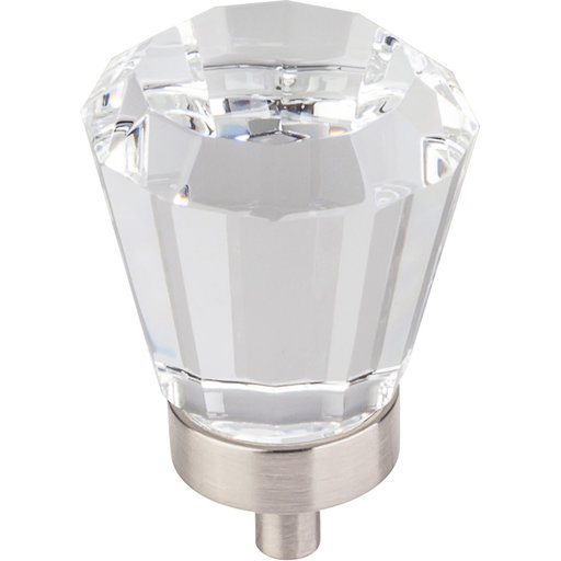 "View a Larger Image of Harlow Large Tapered Glass Knob, 1-1/4"" Dia.,  Satin Nickel"