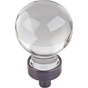 "Harlow Small Sphere Glass Knob, 1-1/16"" Dia Brushed Oil Rubbed Bronze"